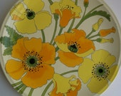 Vintage Wild Poppy Poppytrail Dinner Plate by Metlox California 1972