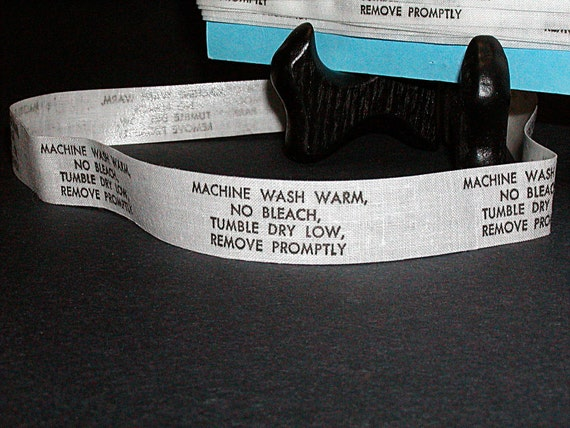Laundry Label, Laundry Care, Machine Wash, White and Black, Iron On Labels, 150 Labels, Cotton Iron On, Garment Labels, Washing Instructions