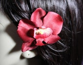Red Orchids on an Alligator Clip - Handmade Hair Flower Accessories