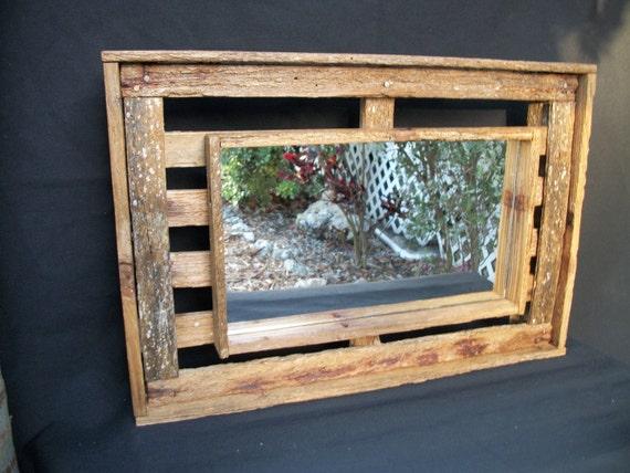 Driftwood/Lobster Trap Mirror