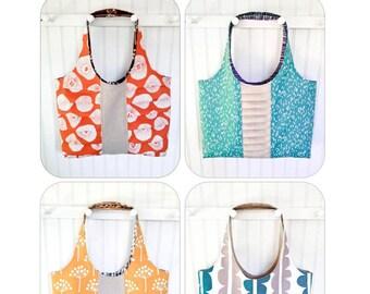 Pretty Pleats Tote Pattern - PDF Sewing Pattern - INSTANT DOWNLOAD