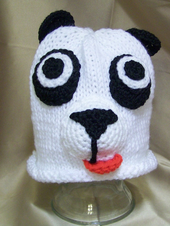 Baby Panda Beanie Hat Knit and Crochet Pattern Instant Download Digital File ...