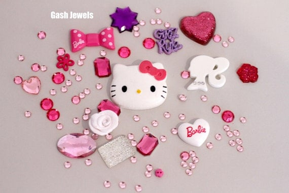 Hello Kitty and Barbie Decoden/Decoration Kit