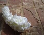 White flower Clustered Headband