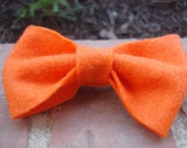 Bright Orange Orange Felt Hair Bow