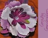 Purple Flower Clip