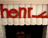 Custom Modern Felt Letters - Henry