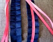 Custom Ms.Smith Summer Sail Loop Belt - Fuschia & Navy