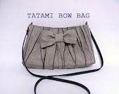 SALE---Japanese Tatami Bow Bag