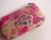 Zip Pouch from Japanese Kimono Fabric