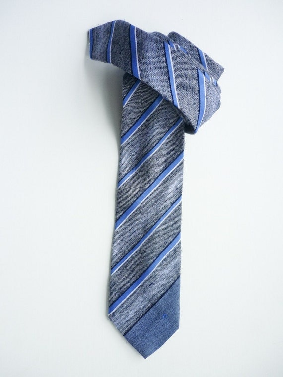80's Vintage Pierre Cardin Striped Neck Tie
