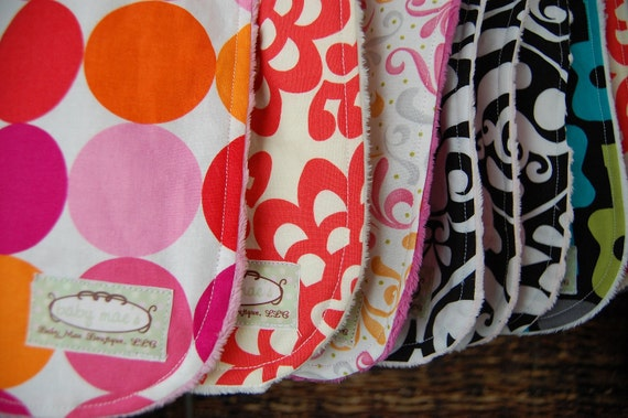 Boutique Baby Bibs: Design Your Own Set of 5 Bibs, Choose from over 80 Designer Fabrics