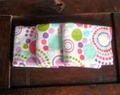 Cotton Flannel Burp Cloths, Sorbet Circle