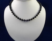 Black Onyx Gemstone Sterling Silver Necklace