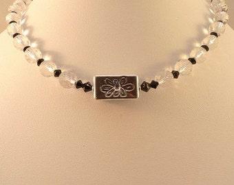 Faceted Crystal Quartz 925 Sterling Necklace