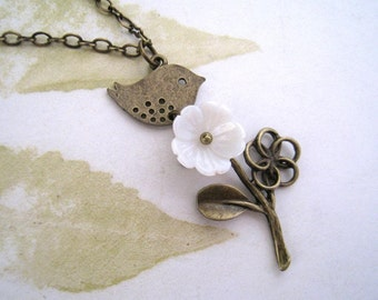 Bird with Flower Necklace