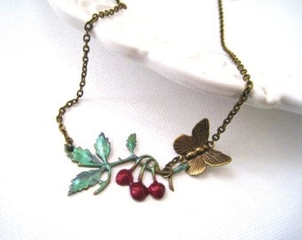 Cherry Branch Necklace