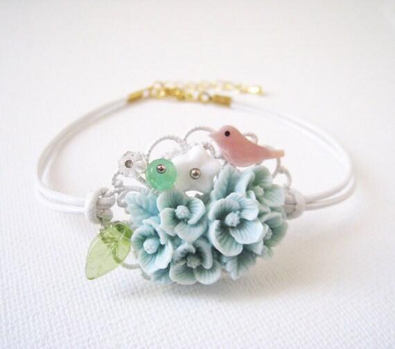 Little Bird's Flower Garden Bracelet