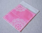 ON SALE  20 pcs White Lace Doily Clear Self Sealing Gift Wrapping Bags