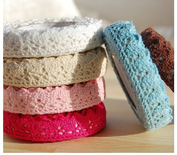Beautiful Multi-function Lace Fabirc Tape, 7 colors to choose