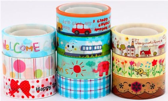 10 Rolls Kawaii Japanese Diy Deco Tape -  5m per tape