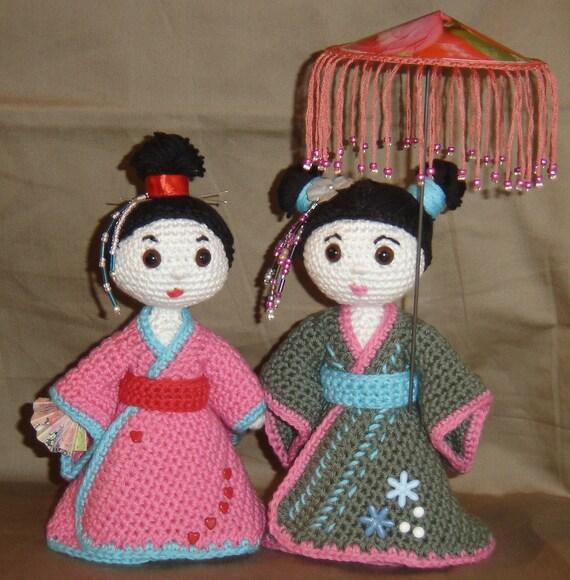 Crochet pattern / geisha / amigurumi by pysselkiisen on Etsy