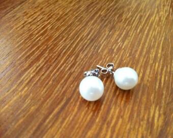 6 pairs of Pearl Stud Bridesmaid Earrings