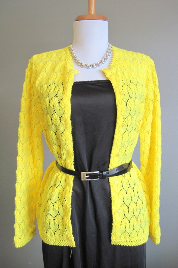 Video cardigan women yellow bright clothing for south