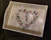 Shabby and so chic Serving tray you choose style and colors