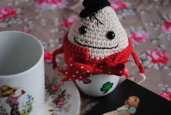 Amigurumi Egg Cozy : Items similar to Humpty Dumpty egg cozy crochet amigurumi ...