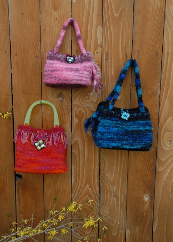 PDF Pattern Kate Purse  A Knit & Crochet (Felted)