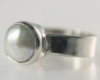 Japanese Mabe Pearl Ring
