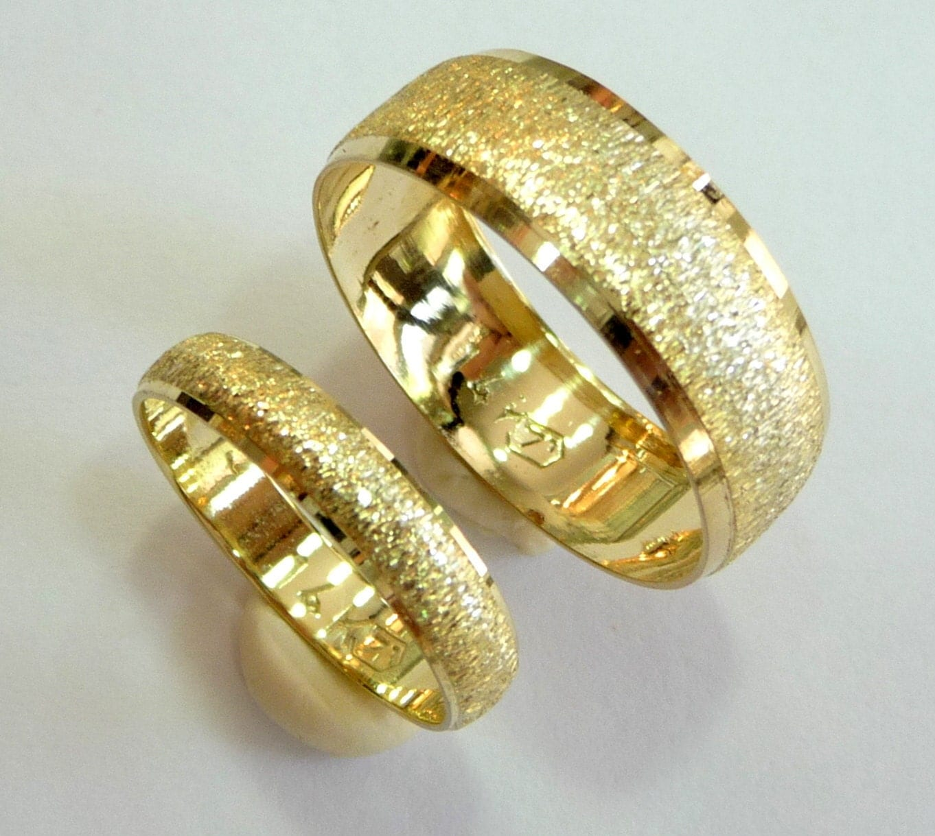 Wedding bands set wedding rings woman mens wedding band 14k for Wedding rings and bands