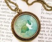 Bunny Rabbit Necklace - Bronze Pendant - Belmont - Wearable Art Necklace with Bronze Chain