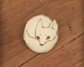 White fox brooch