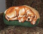 Cocker Spaniel Handpainted Soft Sculpture Pillow