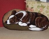 Cardigan Corgi Handpainted Soft Sculpture Pillow