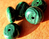 """Malachite Natural. 6 mm x 4 mm. Rondelles. 7"""". Jewelry Supplies by GemsBeadsEtc on Etsy. (2304-malac-rond-6x4)"""