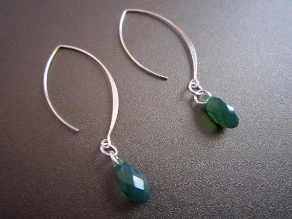 Holiday SALE--Palace Green Opal Swarovski Earrings-RESERVED for MG