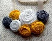 Lemonade - Ribbon Rosette Bib Necklace (FREE SHIPPING)