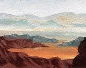 Desert Landscape 1 ACEO Original