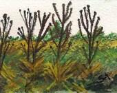 Landscape 5 ACEO Original Painting