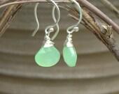 Greenies- gemstone earrings