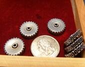 Vintage Sterling Fancy Disk Beads