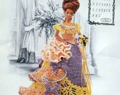 Annie's Attic Heirloom Crochet Doll Dress Pattern 1993 Victorian Lady Centennial Collection. MISS AUGUST