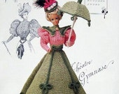 Annie's Attic Heirloom Crochet Doll Dress Pattern 1994 Gibson Girl Collection of the Gay '90's MISS MARCH