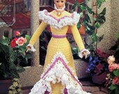 Annie's Attic Heirloom Crochet Doll Dress Pattern 1995 Turn of the Century Bridal Trousseau Collection- MISS SEPTEMBER