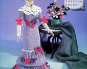 Annie's Attic Heirloom Crochet Doll Dress Pattern 1996 Edwardian Lady Collection - MISS FEBRUARY