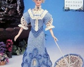 Annie's Attic Heirloom Crochet Doll Dress Pattern 1996 Edwardian Lade Collection - MISS MAY