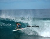 Surfing the Banzai Pipeline
